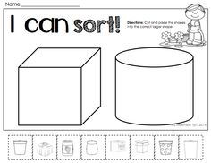 math worksheet : spring math and literacy packet no prep kindergarten  literacy  : Sorting Worksheets For Kindergarten