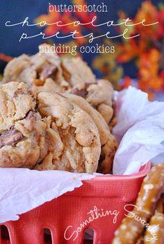 Butterscotch Chocolate Pretzel Pudding Cookies