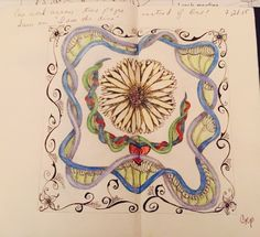 Journal; Zentangle . colored pencil and ink.