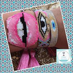 More options! 😍#miyukibracelets #handmade #miyuki #pulseras #joyeria #dmodaaccesorios #joyeriademoda #instylejewelry #armcandy #lips #evileye Peyote Stitch Patterns, Crochet Patterns, Seed Bead Bracelets, Seed Beads, Brick Stitch, Mobile Wallpaper, Glass Beads, Diy And Crafts, Creations