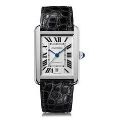 Model Cartier Tank Solo Steel Mens Watch W5200027 Functions Swiss made, 40,85 mm x 31 mm, stainless steel case, black alligator leather strap, automatic movement, scratch resistant sapphire crystal glass, water resistant to 30 metres. Features Taking the Tank's modest and classic design and transforming it into a diverse array of styles the Tank Solo series is one to behold. Highly contemporary in appearance, whilst retaining these refined design sensibilities, this model is a stunning...