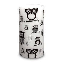 3 x 6 in. owl print candle