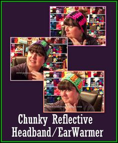 Posh Pooch Designs Dog Clothes: Chunky Reflective Yarn Headband Crochet Pattern