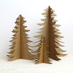Recycled Cardboard Christmas Tree Holiday Decor by PeachwikDecor, $5.50