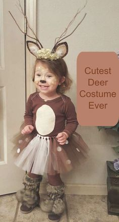 Cutest Deer Costume Ever- So easy to make yourself and Oh my it is just so adorable.
