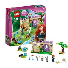 LEGO Disney Princess - Set 41051 - Merida Highland Games I'd give the minifigs to my child though. I hate the Friends-style people and animals. Lego Disney Princess, Lego Princesse Disney, Highland Games, Lego Building Sets, Building For Kids, Lego Toys, Lego Games, Buy Lego, Top Toys