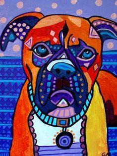 Dog Print  Dog Art  POSTER PRINTS  Boxer Art by HeatherGallerArt, $24.00