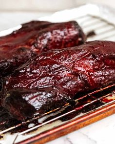 Char Siu Pork - Chinese BBQ Pork fresh out of the oven Pork Belly Recipe Oven, Char Siu Pork Recipe, Bbq Pork Loin, Pork Meat, Asian Bbq, Chinese Bbq Pork, Hawaiian Dishes, Honey And Soy Sauce, Recipetin Eats