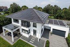 Das Haus mit Solarmodule MS 5 2Power auf Dach