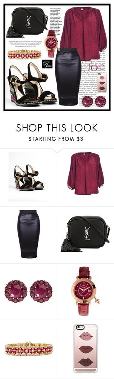 """""""RinaStore #52 / III"""" by amra-sarajlic ❤ liked on Polyvore featuring Yves Saint Laurent, Color My Life, Kershaw, Effy Jewelry, Casetify, rinastore and rinasboutique"""
