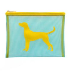 Flint Blue Mesh Stanley Flat Case with Yellow Lab - LoloBag