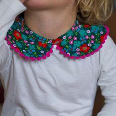 "Cute little girl's collar ""necklace"" tutorial"