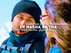 "This scene.:* Actually ""woh nasha ishq tha"" hota h Bollywood Posters, Bollywood Quotes, Bollywood Songs, Famous Movie Dialogues, Yjhd Quotes, Love Romance Kiss, Best Movie Lines, Dear Zindagi, One Sided Love"