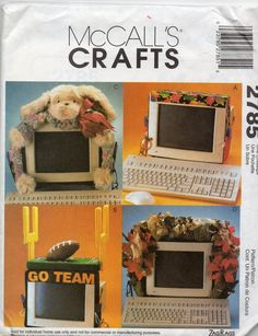 """""""Go Team"""" is my fave!!!  McCalls 2785  Zags Bags Computer Monitor Bands Pattern by mbchills"""