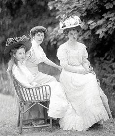 Princess Victoria Louise of Prussia with her aunt Princess Feodora of Schleswig-Holstein and cousin (later sister-in-law) Princess Alexandra Victoria of Schleswig-Holstein