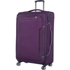 Travel in style with IT Luggage's Amsterdam III collection.  Exterior dimensions: measures 31.3 x 19.3 x 11.2 inches (including wheels and handles) and weighs 7.53 lbs