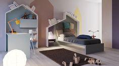 Il letto LagoLinea è l'ideale per la cameretta dei ragazzi: un letto singolo perfetto da integrare con mobili contenitori, scrivanie, librerie e armadi.