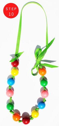 Fashionably Bombed: DIY Tuesday: Bubblegum Necklace!