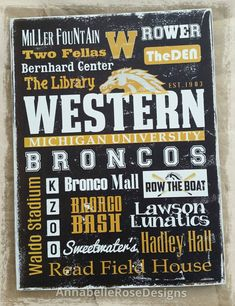 Check out this item in my Etsy shop https://www.etsy.com/listing/261923202/wmu-western-michigan-university-broncos