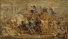 """Peter Paul Rubens (Flemish, 1577–1640). The Triumph of Henry IV, ca. 1630. The Metropolitan Museum of Art, New York. Rogers Fund, 1942 (42.187) 