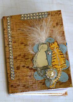 Cats journal/ Free Shipping/ kitten journal/ art by LDphotography