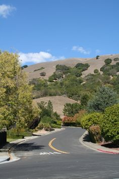 Mt. Lassen Road in Lucas Valley, San Rafael, CA - most homes back up to beautiful open space. Marin County