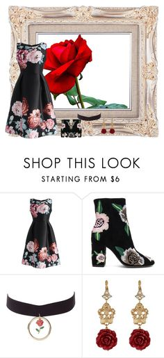 """""""rose buety"""" by patnmic-1 ❤ liked on Polyvore featuring Chicwish, Rebecca Minkoff, Charlotte Russe and Dolce&Gabbana"""
