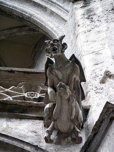 Gargoyle in Munich.....Photo by Ursula....