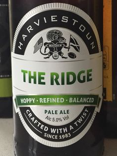 #63 Harviestoun The Ridge - Earthy, woody, trying too hard 3/5 (09/05/2015)