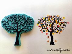 Oooooooh! I'd love to make a #tree #stamp like this! | #crafts