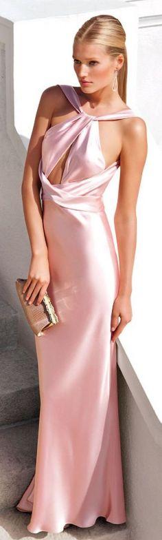 Ralph Lauren pink silk gown