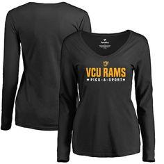 VCU Rams Women s Custom Sport Long Sleeve T-Shirt - Black  VCURams d6bffcdf1651a