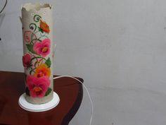 Luminária PVC_Floral