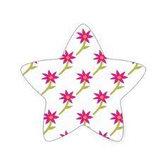 Paper Flower Pattern Star Sticker - craft supplies diy custom design supply special