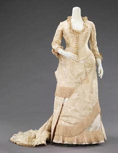 1880 - robe faille et brocart - effet drapé