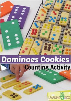 Dominoes cookies counting activity