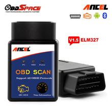 ELM327 Bluetooth ELM 327 Scanner V1.5 ANCEL Real OBD OBD2 OBDII Adapter Auto Scanner v 1.5 For Android Torque Code Reader