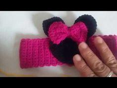 Tiara da minie em croche - YouTube
