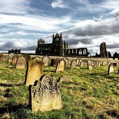 Hier soll Dracula an Land gegangen sein: Whitby Abbey, North Yorkshire.