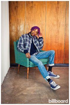 Wiz Khalifa Shows Off Purple Dreads + Fall Street Style for Billboard Photo Shoot image Wiz Khalifa Billboard Purple Dreads Photo Shoot 001