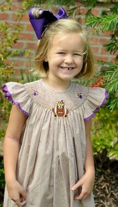 love this little smocked dress!