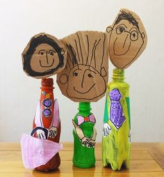 Art play using empty PET bottles - ALL ABOUT