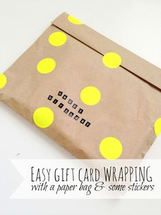 Make a simple gift card fun and special with this easy gift wrap idea