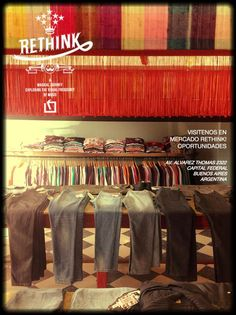 Rethink Audiowear, C. Comerc 23, Barcelona. Streetstyle clothing, books and somtimes live music.