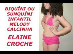 BIQUÍNI OU SUNQUÍNI INFANTIL MELODY EM CROCHÊ - CALCINHA - YouTube