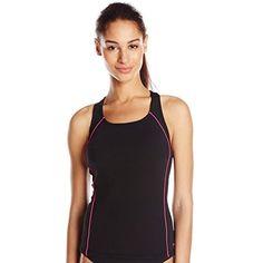 62f41464466 Speedo Women's Galaxy Print Splice Tankini Set Fitness Swimsuit *** You can  get more