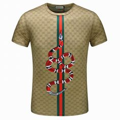 Wholesale Men's Short Sleeve T-shirts - Gucci Snake Shirt, Gucci T Shirt Mens, Gucci Shirts Men, Men Shirts, Mens Luxury Brands, Versace Tracksuit, Gucci Outfits, Apparel Design, Branded T Shirts