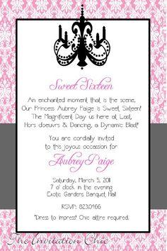 Pink damask sweet sixteen birthday invitation rosa festa de 16 damask invitation stopboris Image collections