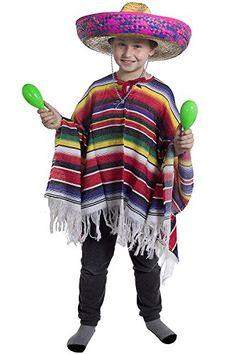 CHILDS MEXICAN BOY FANCY DRESS COSTUME PONCHO + LARGE PIN... https://www.amazon.co.uk/dp/B06X15Q3FG/ref=cm_sw_r_pi_dp_x_znyYzbQDGFPK6
