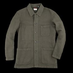 UNIONMADE - Vetra - Cotton Linen Herringbone Jacket in Overdyed Khaki